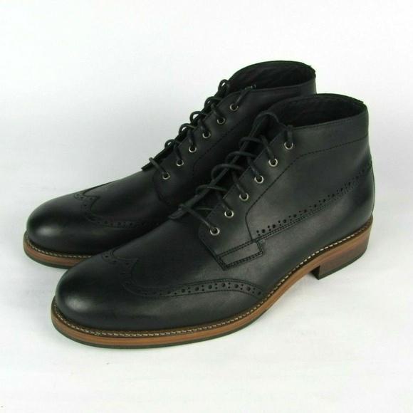 5bb6296f7e8 WOLVERINE Black Leather Harwell Chukka Boots 10.5 NWT